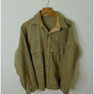 Vintage Woolrich Large Wool Flannel Shirt Green L